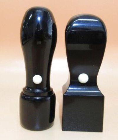 画像1: 法人用 角印 黒水牛21mm角